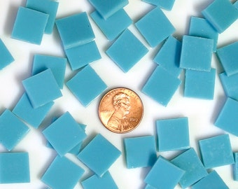 "500 Turquoise Green Opal 1/2"" Mosaic Tiles, Spectrum System 96 Fusible Stained Glass, Choose From 3 Shapes, 12 Sizes, Perfect for Mosaic Art"