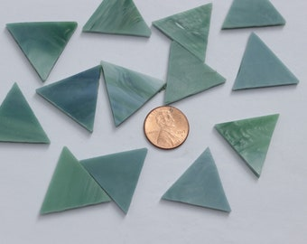 Bluegreen Mosaic Tile Triangles