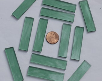 25 Sea Green Waterglass Mosaic Tile Big Borders