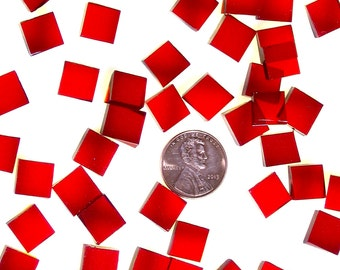 Cherry Red Waterglass Mosaic Tile Quantity Discount