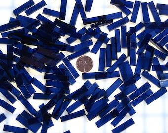 Navy Blue Waterglass Tiles