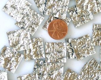 "40 Silver Granite 3/4"" Square Mosaic Tiles, Spectrum Silvercoat Mirror"