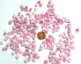 Flamingo Pink Iridized Mosaic Tile