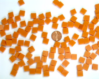 Persimmon Orange Opal Mosaic Tile