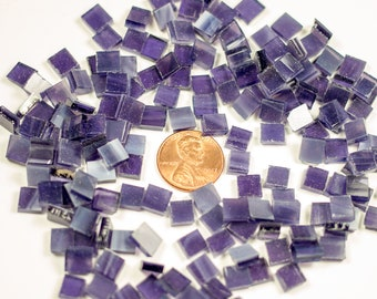 "1/4"" Wispy Grape Stained Glass Mosaic Tiles"
