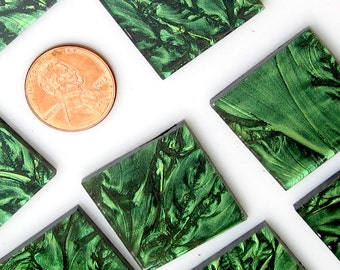 Van Gogh Spring Green Mosaic Tile