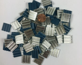 Silver Reed Mirror Tiles