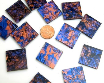 Van Gogh Blue Copper Mosaic Tile