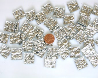"500 Small Border Mosaic Tiles Silver Granite Spectrum Silvercoat Mirror, 1/4"" X 1"",  Quantity Discount & Free Shipping!"