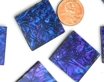 Blue Violet Mosaic Tile Hand Cut From VG350 Van Gogh Glass, Choose From 3 Shapes & 12 Different Sizes, Perfect for Mosaic Art and Crafts
