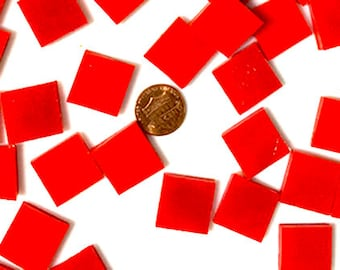Flame Red Mosaic Tiles Squares