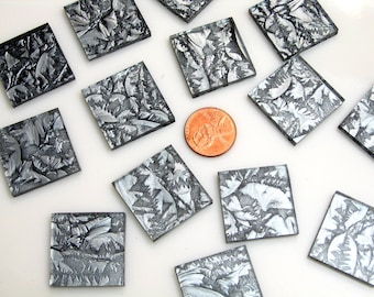 Silver Mosaic Tile Hand Cut From VGSI Van Gogh Glass, Choose From 3 Shapes & 12 Different Sizes, Perfect for Mosaic Art and Crafts