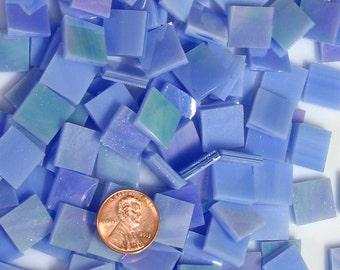 Iridescent Sky  Blue Mosaic Tile