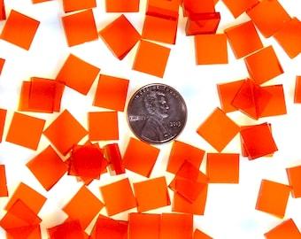 Orange Waterglass Tiles