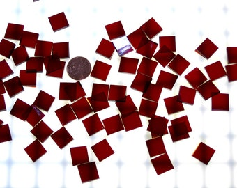 Ruby Red Waterglass Mosaic Tile