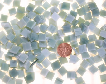 Seafoam Green Mosaic Tile Hand Cut From Spectrum Stained Glass, 3 Shapes & 10 Different Sizes, Perfect for Mosaic Art and Crafts!