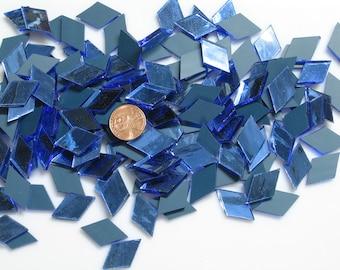"""Blue Mirror Mosaic Tile """"Blue Moon"""""""