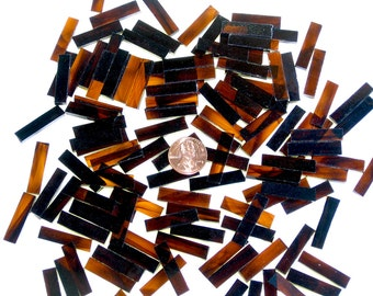 Brown and Gold Streaky Mosaic Tile Borders