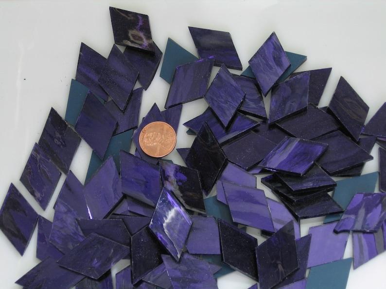 Dark Purple Mirror Tiles Diamond Shapes Hand Cut From image 0