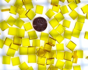 Yellow Waterglass Mosaic Tiles