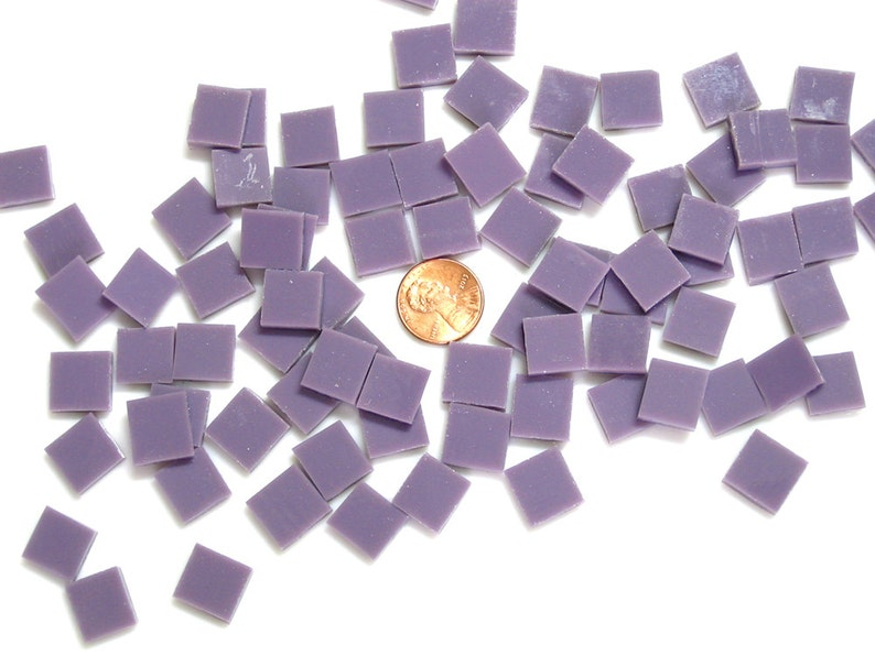 Lilac Purple Mosaic Tile Hand Cut From Spectrum Fusible image 0