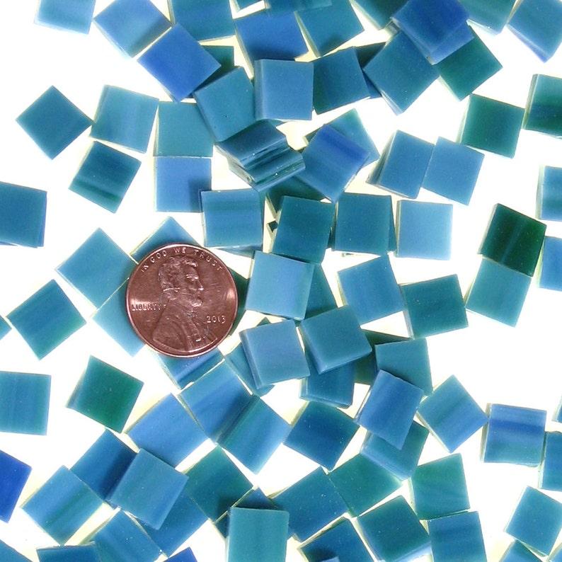 Bluegreen Mosaic Tiles Hand Cut From Original Spectrum SP image 0