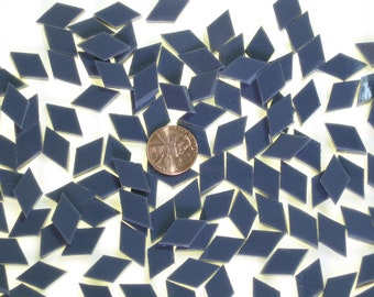 50 Charcoal Opal Mosaic Tile Tiny Diamonds Hand Cut From Spectrum System 96 Fusible Stained Glass, Perfect for Mosaic Arts and Crafts