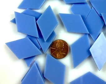 12 Hydrangea Blue Mosaic Tile Diamonds, Original Spectrum System 96 Fusible Stained Glass, Perfect Glass Tiles for Mosaic Art & Fusing!