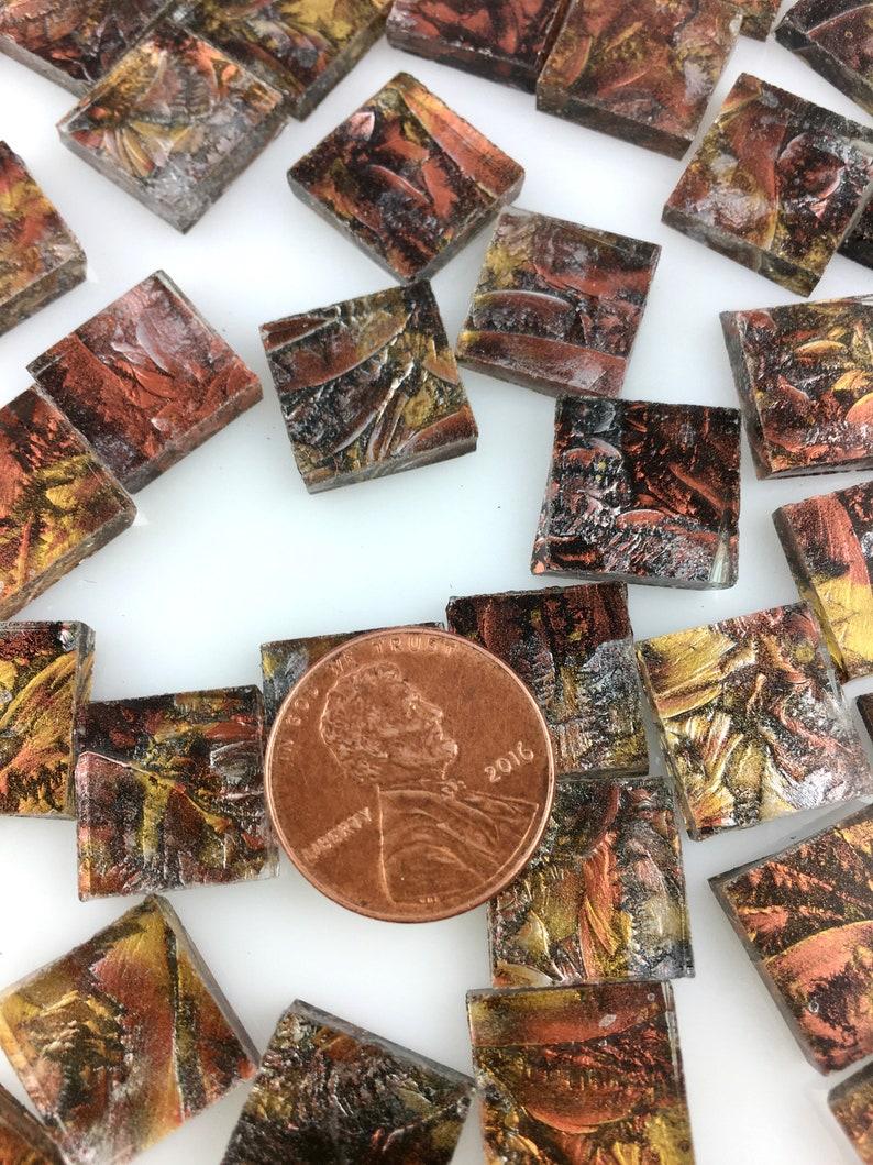 50 1/2 Van Gogh Copper Gold Silver Mosaic Tiles VG89SI image 0