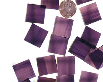 """24 3/4"""" Square Deep Violet Pale Purple Mosaic Tiles, Original Spectrum Waterglass, Stained Glass Tiles are Perfect for Mosaic Art and Crafts"""