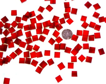 Cherry Red Waterglass Mosaic Tile
