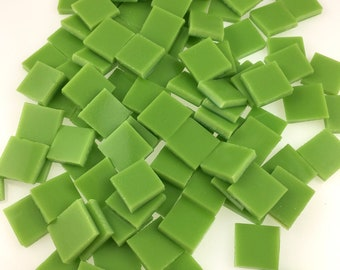 """50 1/2"""" Amazon Green Mosaic Tile, Spectrum System 96 Fusible, Stained Glass Tiles are Perfect for Mosaic Art, Crafts or Fusing"""