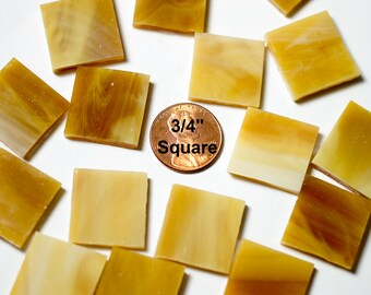 """24 3/4"""" Square Light Brown Mosaic Tiles """"Light Oak"""" Cut From Original Spectrum, Stained Glass Tiles are Perfect for Mosaic Art and Crafts"""