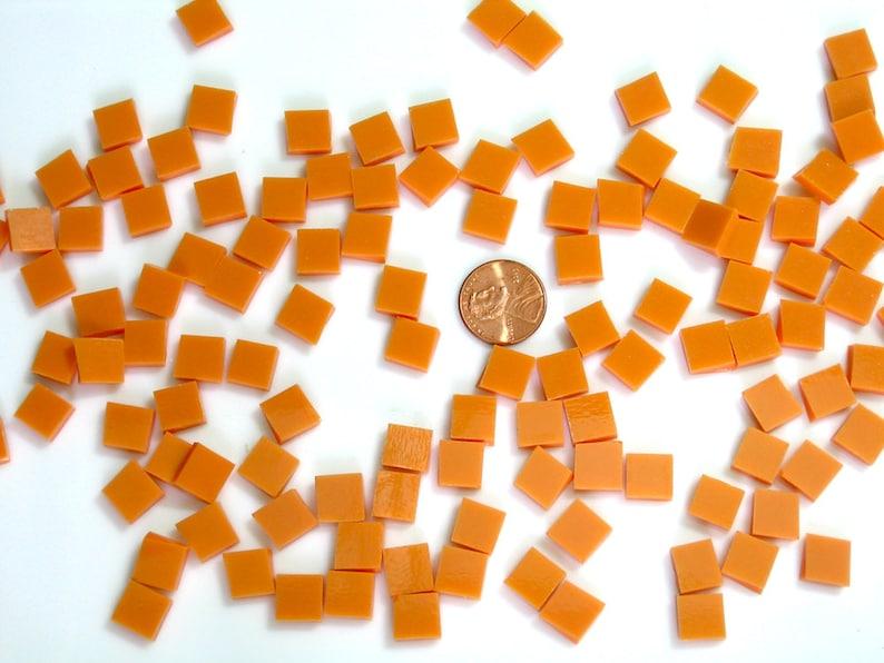 Persimmon Orange Opal Mosaic Tile Spectrum Fusible 3 Shapes image 0