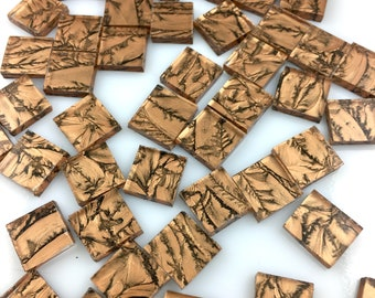 """50 1/2"""" Van Gogh Bronze Mosaic Tiles, VG200 Van Gogh Glass, Stained Glass Tiles for Mosaic Art & Crafting"""