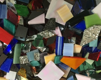 1/2 Pound of Scrap Mosaic Tile, Random Sizes, Shapes & Colors, Perfect for Mosaic Art and Craft Projects!