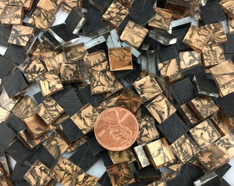 """75 3/8"""" Van Gogh Bronze Mosaic Tiles, VG200 Van Gogh Glass, Stained Glass Tiles for Mosaic Art & Crafting"""