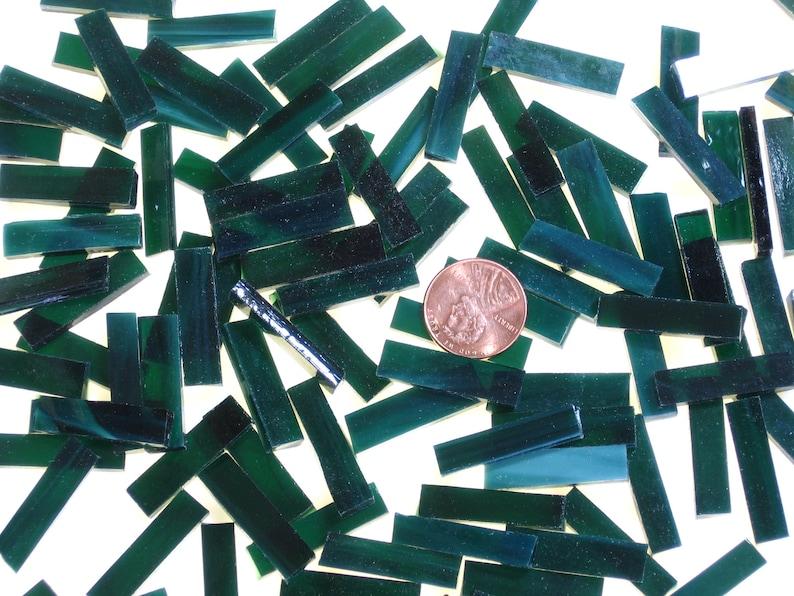 100 Hunter Green Small Borders 1/4 X 1 Hand Cut image 0