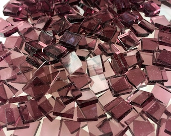 """100 3/8"""" Pale Purple Mosaic Tiles, Cut From Original Spectrum SP 140.8W Waterglass, Stained Glass Tiles for Mosaic Art and Craft Projects"""
