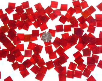 Wispy Red Stained Glass Mosaic Tile