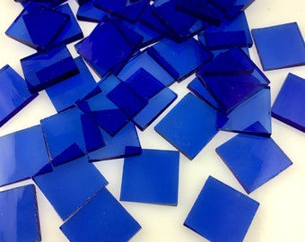 """25 3/4"""" Light Blue Mosaic Tile Cut From Original 132W Spectrum Waterglass, Stained Glass Tiles are Perfect for Mosaic Art and Crafts"""