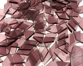 """25 Pale Purple Small Diamonds 5/8"""" X 1"""" Cut From Spectrum SP 140.8W Waterglass, Stained Glass Tiles are Perfect for Mosaic Art and Crafts!"""