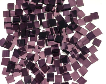 """75 3/8"""" Square Deep Violet Pale Purple Mosaic Tiles, Original Spectrum Waterglass, Stained Glass Tiles are Perfect for Mosaic Art & Crafts"""
