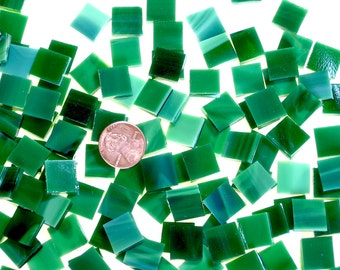 Emerald Green Mosaic Tiles Cut From Oceanside Fusible Stained Glass, Stained Glass Tiles are Perfect for Mosaic Art, Crafts or Fusing!