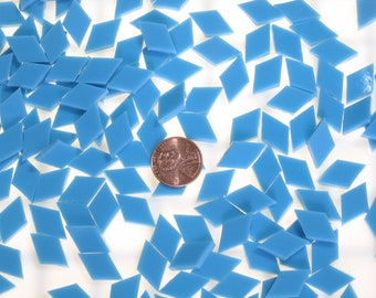 Turquoise Blue Mosaic Tile Cut From Spectrum Fusible Stained Glass, 3 Shapes, 10 Sizes, Perfect Stained Glass Tiles for Mosaic Art or Crafts