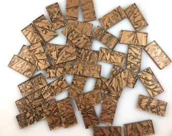 """25 Van Gogh Bronze Mosaic Tile Borders 1/2"""" X 1"""", VG200 Van Gogh Glass, Stained Glass Tiles for Mosaic Art & Crafting"""