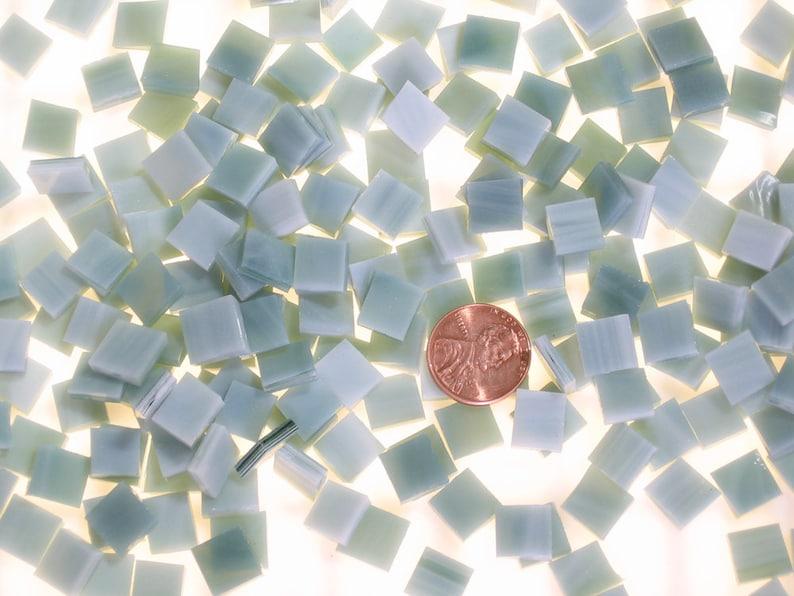 Orange Opal Glass Micro Mosaic Craft Tile