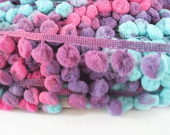 3 to 6 yards Multicolor Pom Pom Trim - Choose your own yards - Large - N 70  Fairy Wings ( Pom pom size 1.2 cm or 1 2 inch ) 9e703fb8ac86