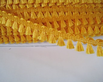5 yards  Mini  Fringe Trim Tassel Trim  - Number 50 Tangerine
