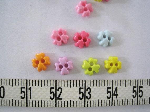 100pcs of tiny four petal flower buttons 6 mm set a purple etsy image 0 mightylinksfo